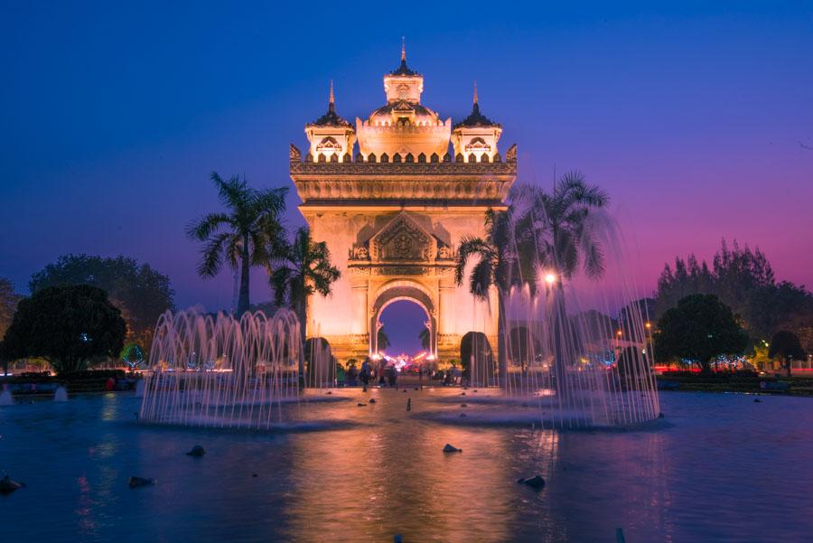 patuxai Vientiane laos photography