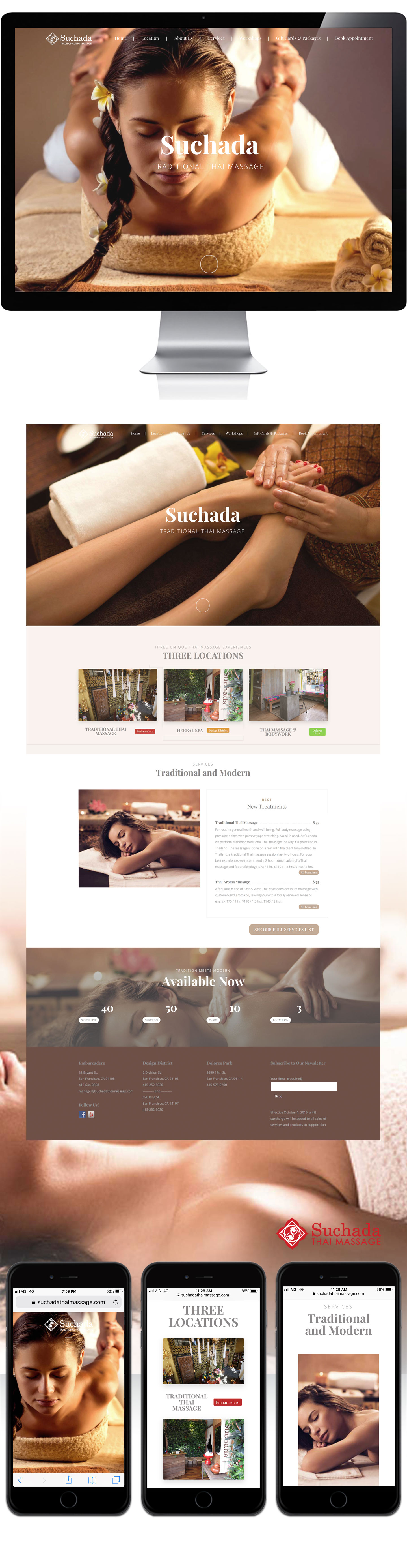 suchada thai massage website design